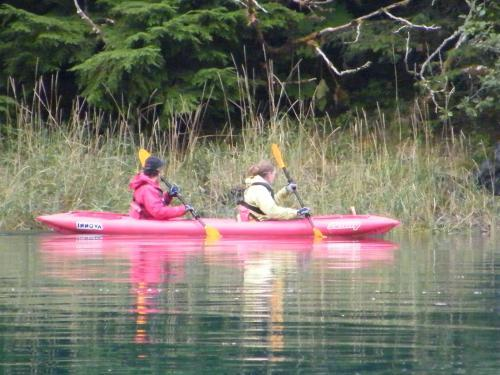 "<a href=""/node/145"">Nikki and Annette kayaking around Taku Harbor</a>"